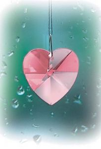 Crystal~Heart 18 Rose Swarovski Rainbow Hanging Crystal-A stunning array of dancing light